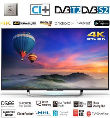 """טלויזיה """"49 Android TV 4K בעיצוב חדשני מבית SONY דגם KD-49X8308CBAEP"""