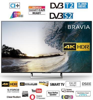 """טלויזיה """"65 SMART TV 4K בעיצוב Slim Aluminum Bezel תוצרת SONY דגם KD-65XE7096"""