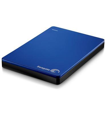 """דיסק קשיח חיצוני נייד 2.5"""" Slim בנפח 1TB בחיבור מהיר USB 3.0 מבית  SEAGATE דגם STDR1000202 כחול"""
