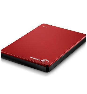 """דיסק קשיח חיצוני נייד 2.5"""" Slim בנפח 1TB בחיבור מהיר USB 3.0 מבית SEAGATE דגם STDR1000203 אדום"""