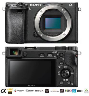 מצלמת 24.2MP גוף בלבד כולל WiFi ווידאו 4K תוצרת sony דגם ILC-E6500 Alpha
