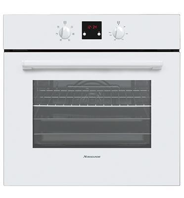 תנור אפיה בנוי תא אפייה ענק - 56 ליטר נטו 6 תכניות צבע לבן תוצרת Normande דגם KL-65
