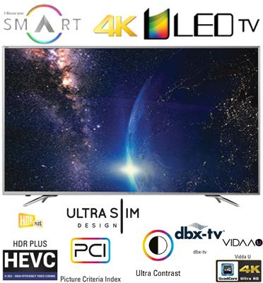 """טלוויזיה """"50  ULED 4k Ultra HD SMART LED TV תוצרת Hisense דגם 50M7030UW"""