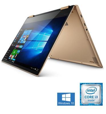 """מחשב נייד """"14 8GB מעבד Intel Core I3 7100U מבית Lenovo דגם Yoga 520-14IKBR-75"""