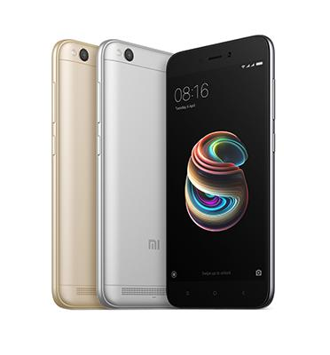 """סמארטפון מסך 5"""" HD זכרון 16GB מצלמה 13MP מבית Xiaomi דגם Redmi 5A + כיסוי ומגן זכוכית מתנה"""