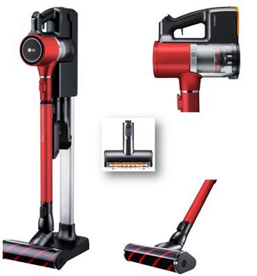 שואב אבק אדום ללא כבלים ועוצמת שאיבה חזקה במיוחד מסדרת A9   LG דגם A9BEEDING2