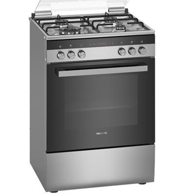 תנור אפיה משולב כיריים גז תא בנפח 66 ליטר בעיצוב נירוסטה תוצרת SIEMENS דגם HX9R3IH50Y