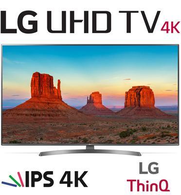 """טלויזיה חכמה """"55 LED 4K Smart TV עם פאנל IPS, אינדקס עיבוד תמונה תוצרת LG דגם 55UK6700Y"""