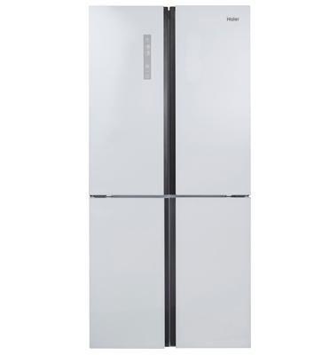מקרר 4 דלתות No Frost גימור זכוכית לבנה תוצרת .Haier דגם  HRF625FW