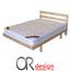 מיטה זוגית מעץ מלא כולל ראש ומסגרת למזרן + מזרן קפיצים אורטופדי מבית Or-Design דגם שרית