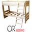 מיטת קומותיים מעץ אורן מלא כולל סולם ומגן מיטה מבית Or-Design