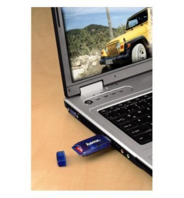 קורא כרטיסי זכרון 6 סוגים USB קל משקל המהיר מסוגו  תוצרת .HAMA גרמניה דגם 55310