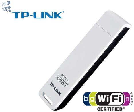 כרטיס רשת אלחוטי אחריות 3 שנים תקן 802.11N מבית TP-Link דגם WN821N