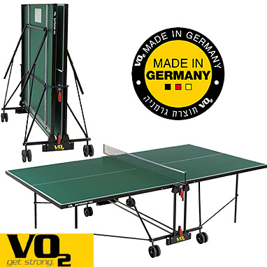 שולחן. טניס לשימוש חוץ מבית VO2 גרמניה דגם 162OUT+סט מחבטים וכדורים מתנה