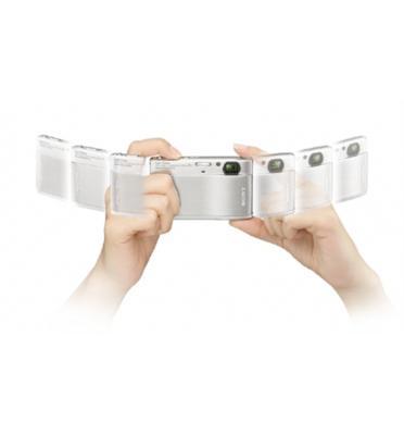 מצלמה דיגיטלית דקה 10.1 מגה עם חיישן תמונה מתקדם HD תוצרת SONY דגם DSC-TX1 תצוגה