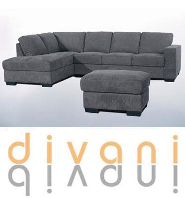 מערכת ישיבה פינתית מדמוי עור או בד מיובאת מבית Vitorio Divani דגם רנאטה