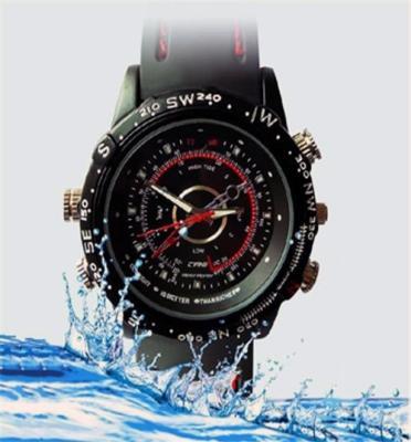 מצלמת ריגול מוסלקת בשעון ספורט אטום למים 4GB
