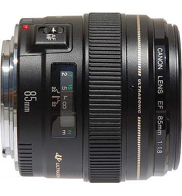 עדשה תוצרת CANON דגם Canon EF 85mm f/1.8 USM