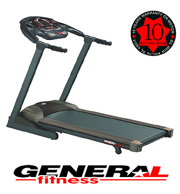 """מסלול ריצה 8 כ""""ס עם שיפוע חשמלי מתכוונן General Fitness דגם WIND 52 כולל הובלה מתנה!"""