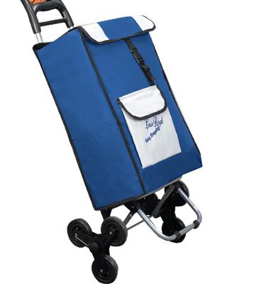 עגלת קניות EASY SHOPPING מבית לואיס רויאל -דגם משודרג עם 3 גלגלים למדרגות דגם 48680