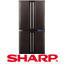 מקרר 4 דלתות בנפח 613 ליטר תוצרת SHARP בטכנולוגיית הקירור ההברידי דגם SJ5509BK