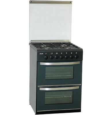 תנור משולב הלכתי דו תאי תוצרת SAUTER בצבע שחור דגם TSD680B