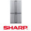 מקרר 4 דלתות בנפח 613 ליטר נירוסטה SHARP HYBRID דגם SJC7511