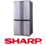 מקרר 4 דלתות בנפח 613 ליטר SHARP קירור היברידי בגימור נירוסטה מוברשת דגם SJX5406