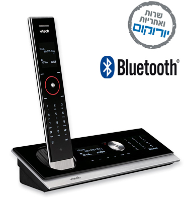 טלפון אלחוטי דיגיטלי BlueTooth ומשיבון תוצרת Vtech דגם LS6245 מחודש