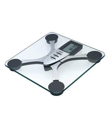 משקל אדם דיגיטלי זכוכית מודד גם אחוזי שומן מבית EXACTA דגם 63698