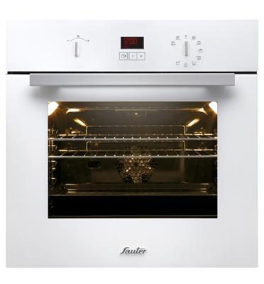 תנור אפיה בנוי פירוליטי 9 תוכניות עם צג דיגיטלי צבע לבן SAUTER. דגם SFP3010W