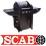 גריל גז מעוצב בארון מובנה עם 3 מבערים + כירת צד תוצרת SCAB דגם spider grill gas