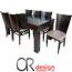פינת אוכל יוקרתית ומרווחת הכוללת שולחן + 6 כסאות מבית Or-Design דגם חרמון