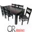 פינת אוכל יוקרתית ומרווחת הכוללת שולחן + 6 כסאות מבית Or Design דגם כפיר
