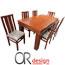 פינת אוכל יוקרתית ומרווחת הכוללת שולחן + 6 כסאות מעץ מלא מבית Or Design דגם תבור