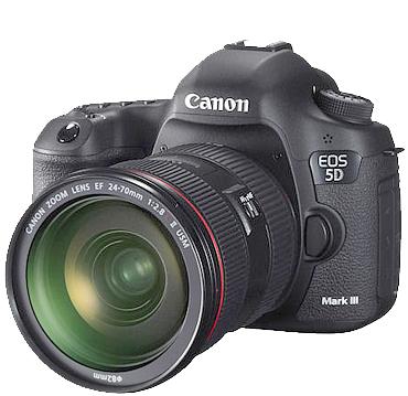 מצלמה DSLR מקצועית FULL FRAME 22.3MP תוצרת Canon דגם EOS 5D MARK III+ עדשה 24-105