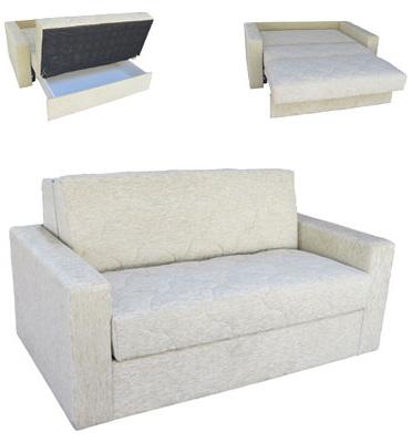 ספת דו מושבית נפתחת למיטה זוגית כוללת ארגז מצעים ומרופדת בבד מיקרו מבית OR Design דגם שושן