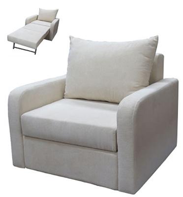 כורסא חד מושבית נפתחת למיטת יחיד ומרופדת בבד אריג מבית Or-Design דגם יפית +מתנה!