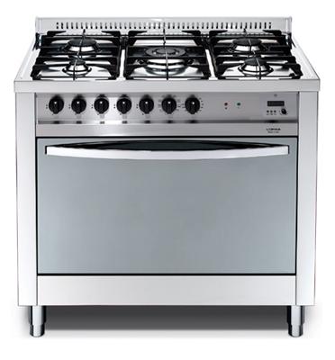 """תנור משולב כיריים בעיצוב תעשייתי ואלגנטי במגוון צבעים 90 ס""""מ תוצרת LOFRA דגם MSG96MF/CI"""