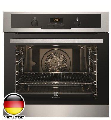 תנור אפיה בנוי פירוליטי בגימור נירוסטה 10 תוכניות Electrolux דגם EOC5410AOX