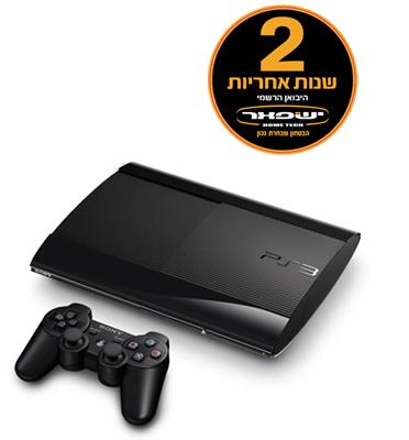 """קונסולה 12GB PS3 דגם CECH-4304A/DS3 אחריות לשנתיים ע""""י היבואן הרשמי+2 בקרים +כבל HDMI במתנה!"""