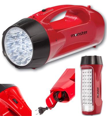 פנס תאורת חירום 59 נורות LED תוצרת MONSTER דגם 8951