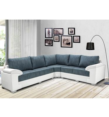 מערכת ישיבה פינתית מדמוי עור איכותי מבית Vitorio Divani דגם פמיליה