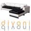 מערכת ישיבה פינתית מדמוי עור איכותי מבית Vitorio Divani דגם סופרנו