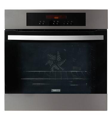 תנור אפיה בנוי פירוליטי בנפח תא 74 ליטר בגימור נירוסטה תוצרת ZANUSSI דגם ZOP38903XK