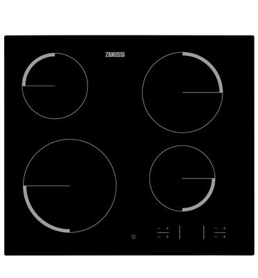 """כיריים קרמיות ברוחב 60 ס""""מ 4 אזורי בישול תוצרת ZANUSSI דגם ZEV6340FBA"""