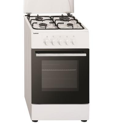 תנור אפיה צר משולב כיריים גז 4 מבערים תוצרת LENCO דגם LFS-5050WS