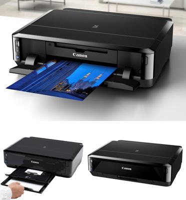 מדפסת פוטו אלחוטית + הדפסה על דיסקים תוצרת CANON דגם PIXMA IP7250