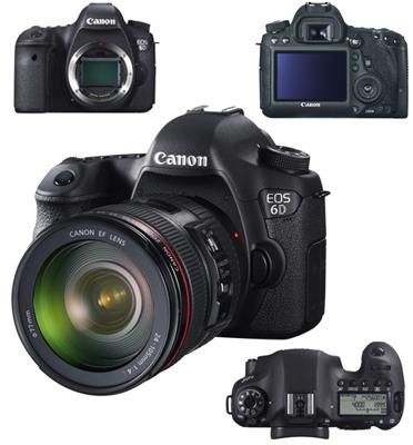 מצלמה מקצועית FULL FRAME BODY כולל Wi-Fi + GPS תוצרת .CANON דגם EOS 6D