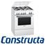 תנור משולב כיריים עם תא אפייה ענק 67 ליטר צבע לבן תוצרת קונסטרוקטה דגם CH755323IL